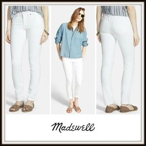"Madewell Jeans - Madewell White 9"" High-Rise Skinny Stretch Jeans"